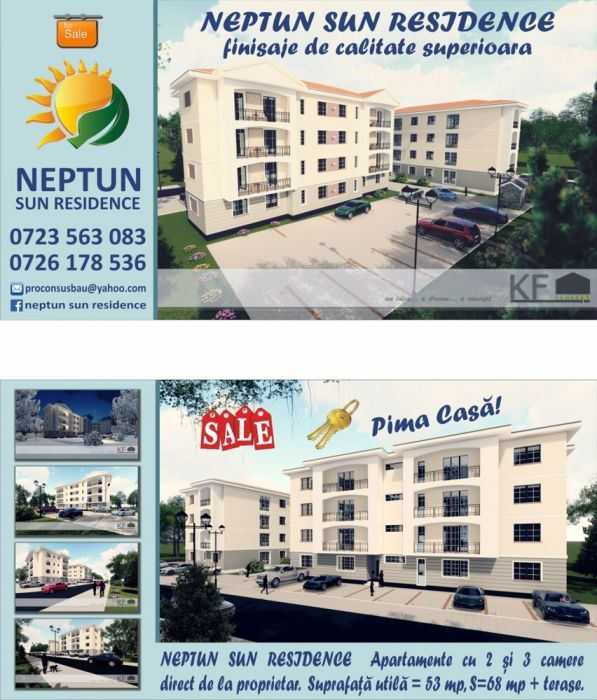 Apartamente 3 camere direct proprietar - Str. Neptun (Giroc)