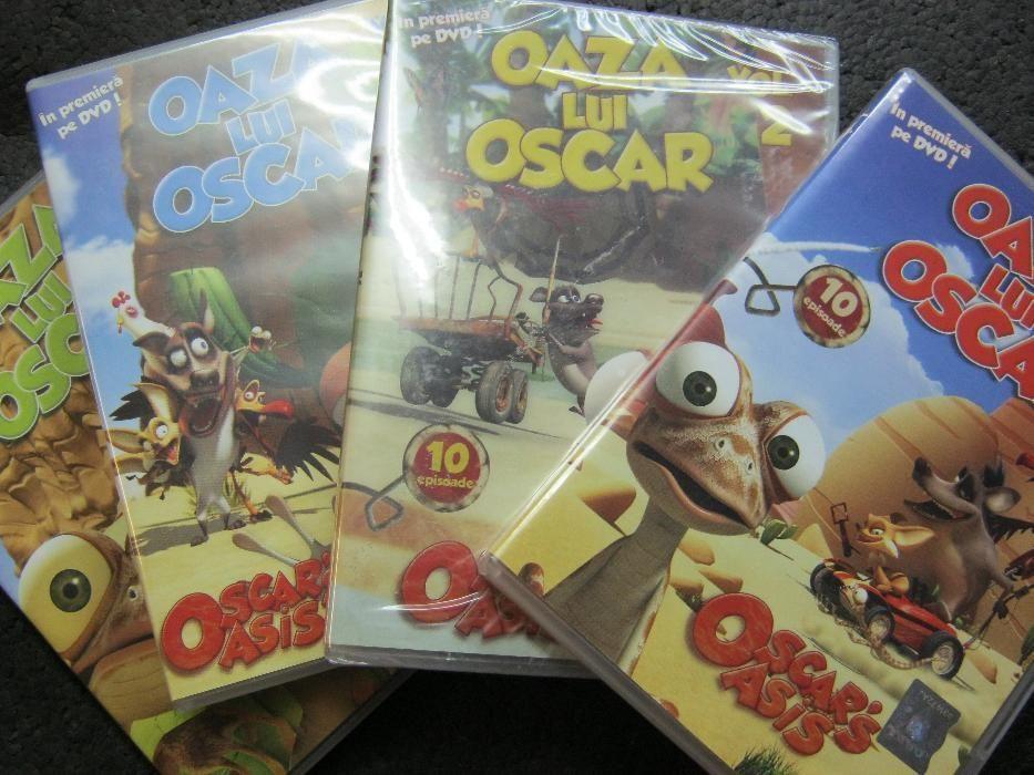 Set de 4 DVD,OAZA lui OSCAR,desene animate.
