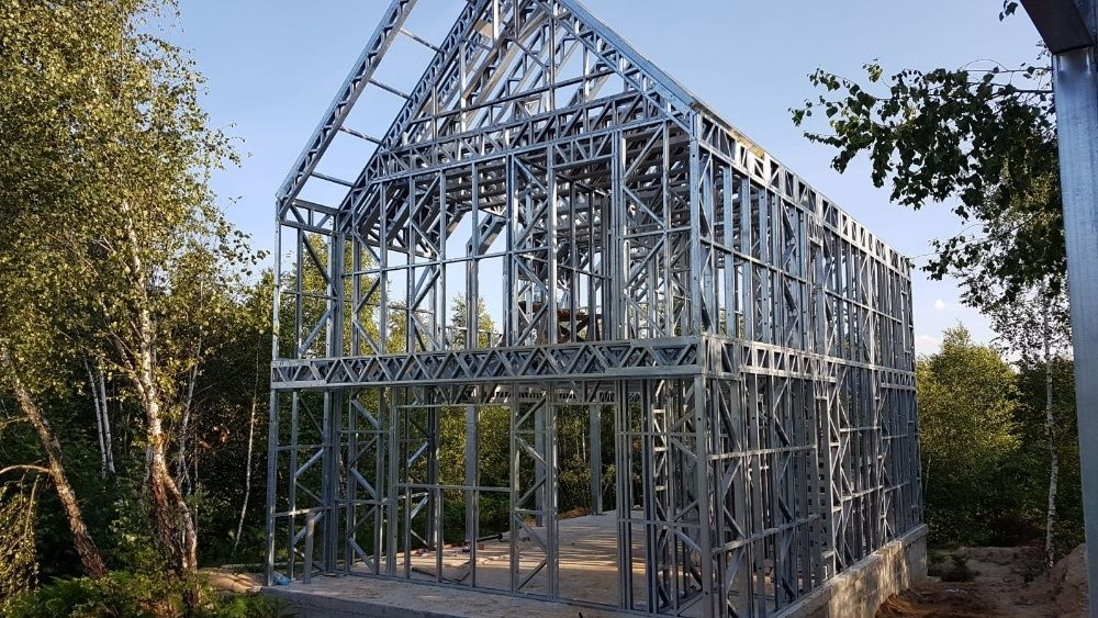 Structura metalica pentru casa 100 mp, de la doar 8500 euro!!!