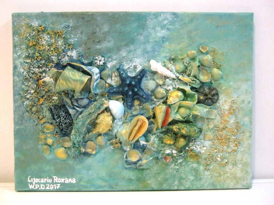 Spuma marii - tablou 3D pictat manual
