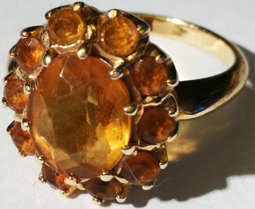 Inel aur 14 carate 5 grame cu citrin