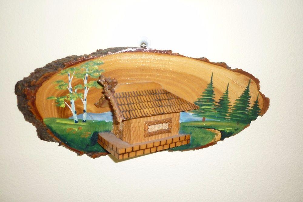 Стара релефна картина върху дърво - 1969 г.