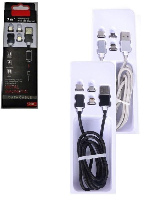Магнитен Кабел за micro-USB, iPhone5/6/7, Type-C
