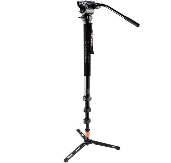Monopied aluminiu picioare lungi 20cm E-IMAGE MA110 + cap video GH03