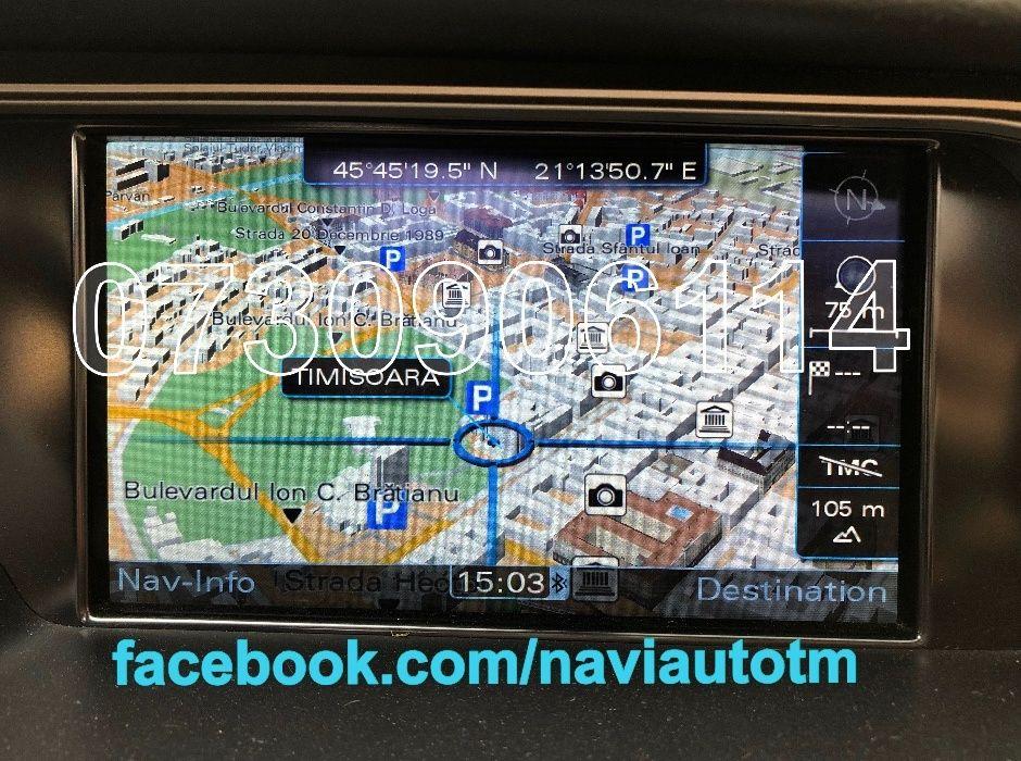 AUDI MMI 3G + Harti navigatie A1,A4,A5,A6(C7),A7,A8,Q5 Romania+Eu 2018