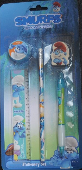 Set 5 piese Smurfs