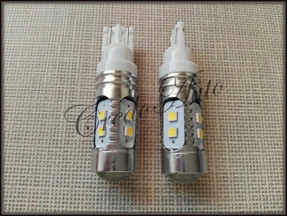 Мощни габарити с лупа Т10 7W 10 2323 LED w5w Canbus