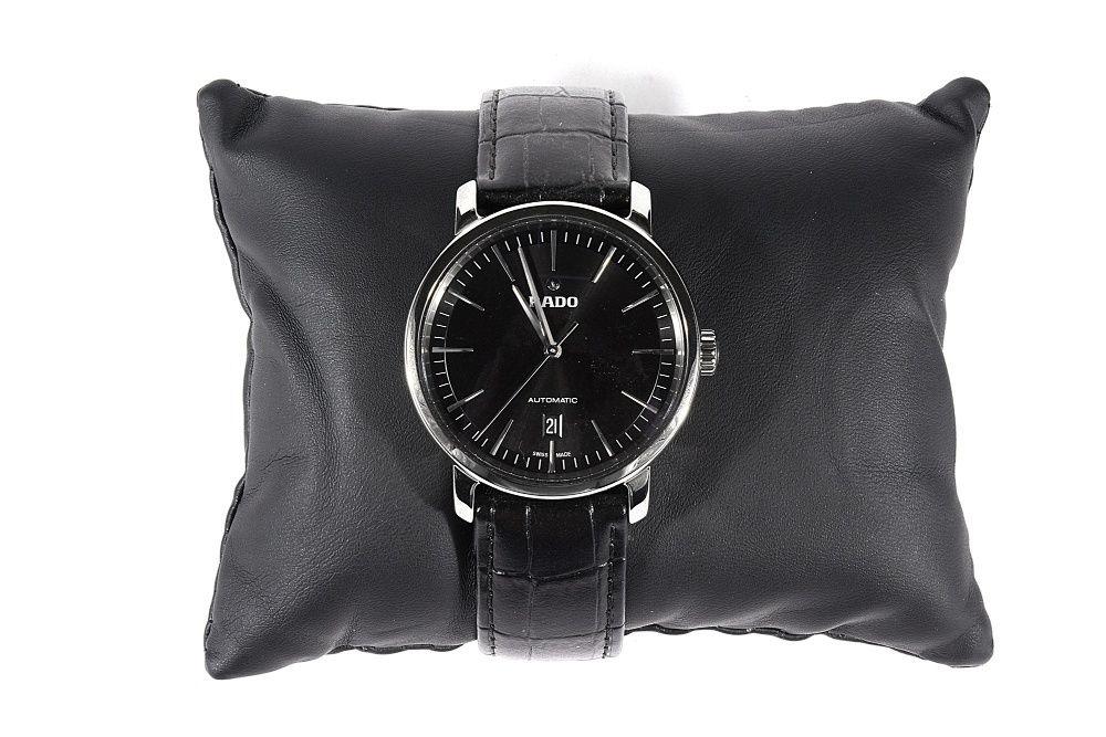 Мъжки часовник Rado DiaMaster XL Black Leather Strap Automatic