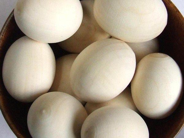 Set oua natur din lemn
