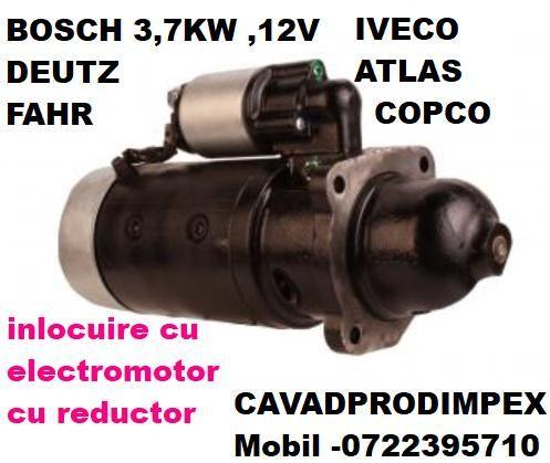 Electromotor deutz-fahr,iveco,mercator,bomag,liebherr, 3,7kw bosch