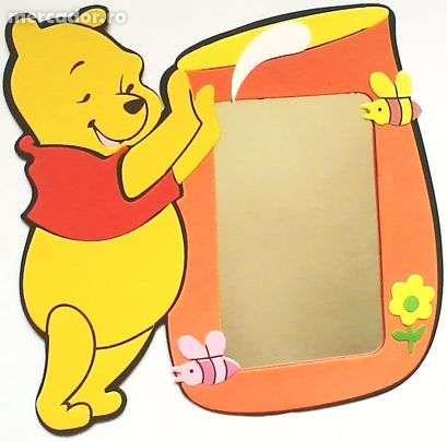 Sticker 3D Disney Winnie the Pooh + Oglinda verticala 17 x 11 cm