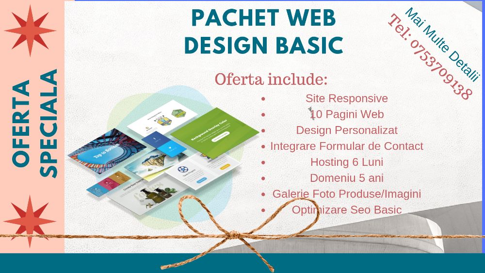 Iasi Web Design - Creare Website de Prezentare - Realizare site web