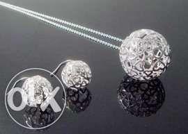 Lantisor pandantiv argint 925 + Cercei argint 925 Magic Ball