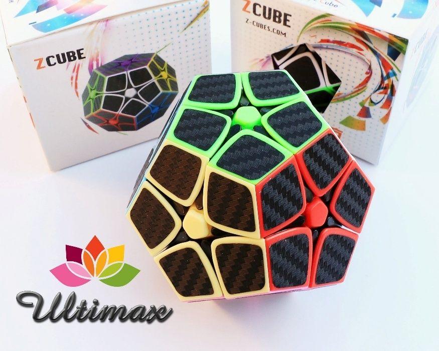 Z-Cube Megaminx 2x2 * Cub Rubik * Stickere Fibra de Carbon