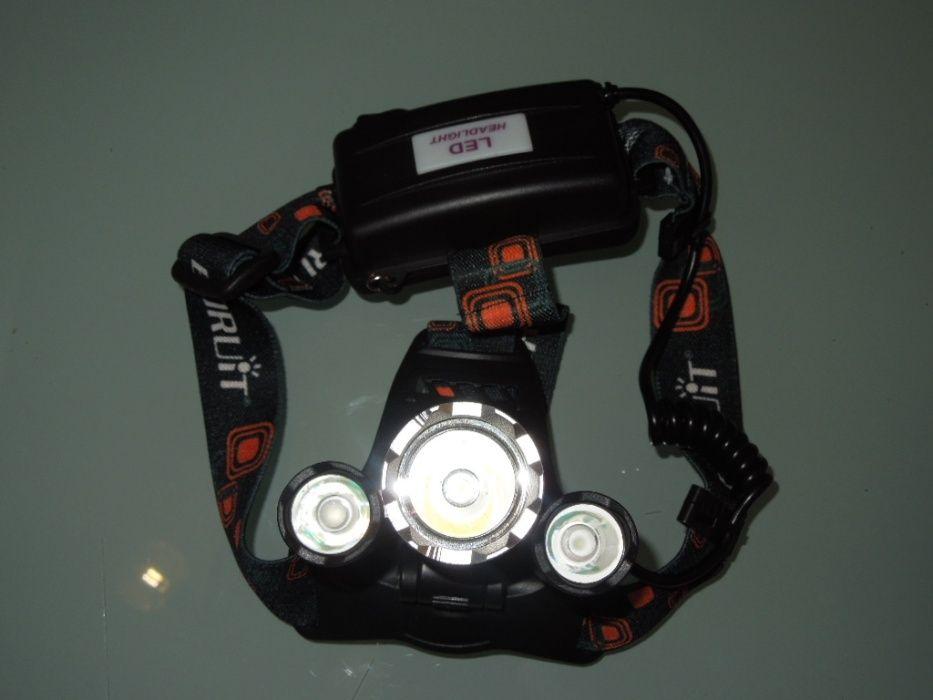 Lanterna Frontala De Cap Aluminiu 2800W Led 3 x CREE-XM-L T6