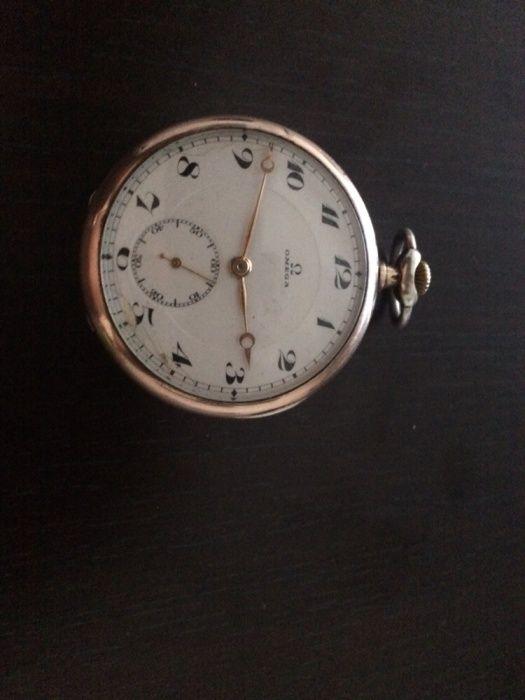 Ceas de buzunar omega argint aurit 0,900