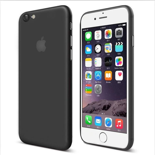 Iphone 7 Iphone 8 - Husa Din Plastic Ultra Slim Mat Neagra, Alba