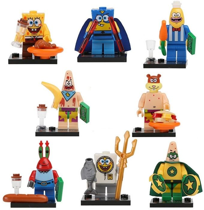 Set 8 Minifigurine tip Lego SpongeBob Squarepants