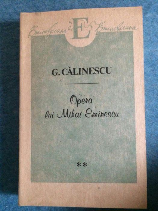 Opera lui Mihai Eminescu - G. Calinescu, vol. 1, 2