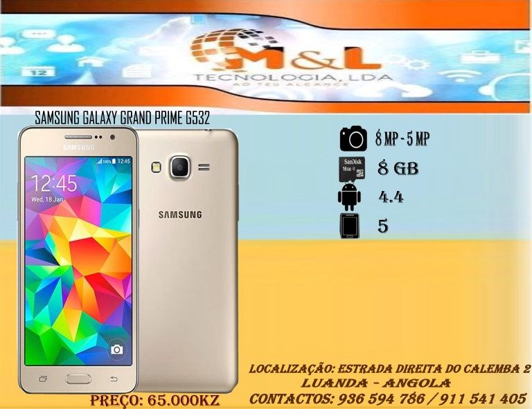 Telemovel Samsung Grand Prime G535 Novo original