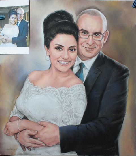 Ръчно рисувани Пастелни портрети от снимка или файл