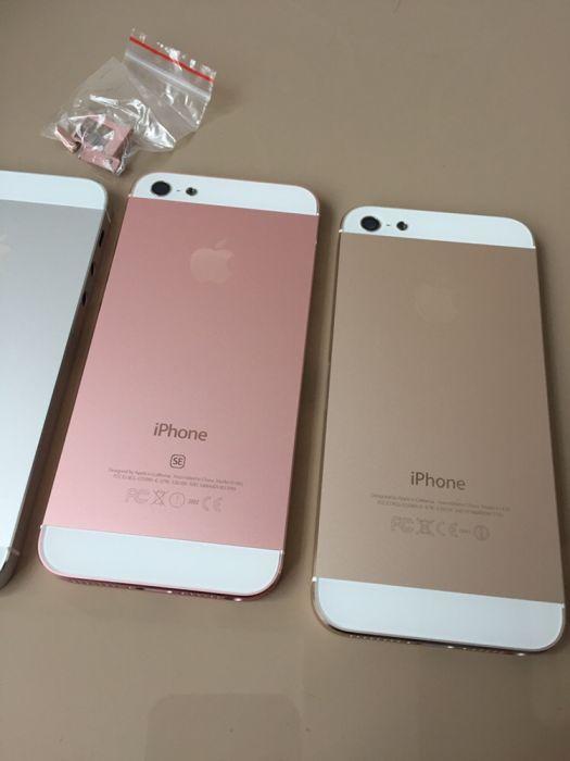 carcasa originala iphone 5/5s gold plus butoane/pe stoc si alb si negr