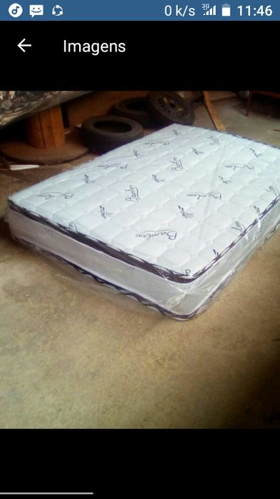 Colchões medicinais pillow top de molas casal, inclui transporte.