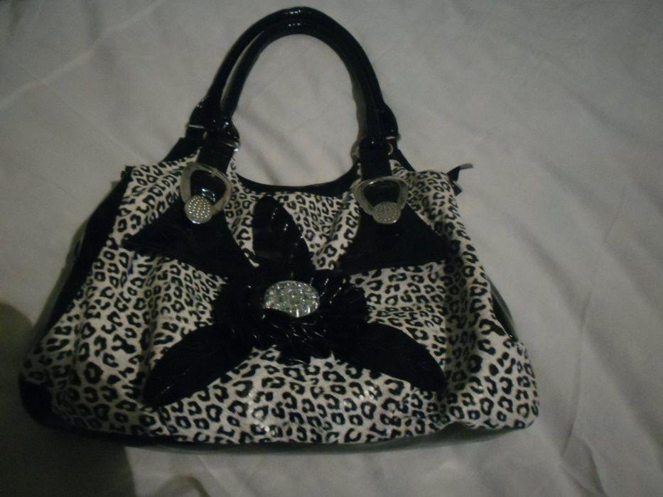 нова бяла чанта,чанта с принт