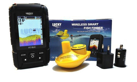 Transport gratuit!!!Waterpoof Wireless Fish finder FULL COLORFUL