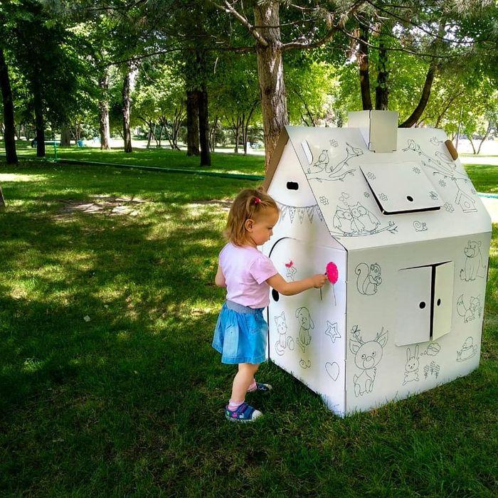 Картонный домик для игр и рисования. Новое поступление