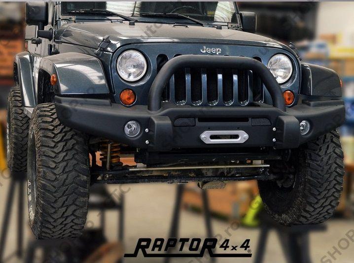 Bara fata cu bullbar Raptor 4x4 pentru Jeep Wrangler JK