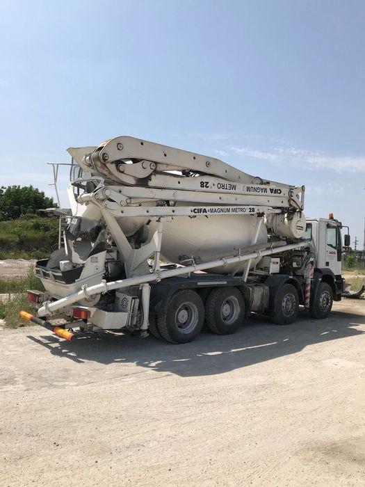 SUPER OFERTA! Pompa beton 28m cu mixer 10 mc, Iveco an 2003
