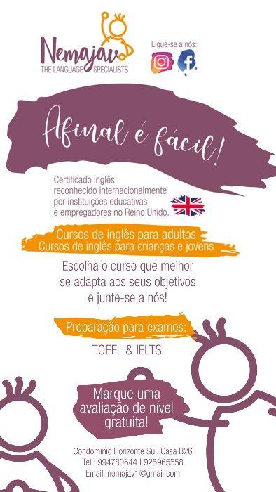 Aulas de Inglês com NEMAJAV - preparação para emprego