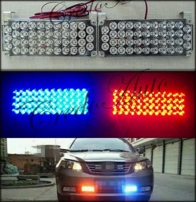 НОВО!LED Мощен полицейски сигнален блиц!!42диода!!