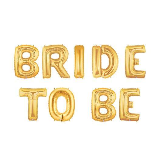 "Nunta "" Bride to be"" -Baloane folie auriu 35 cm baloane nunta"