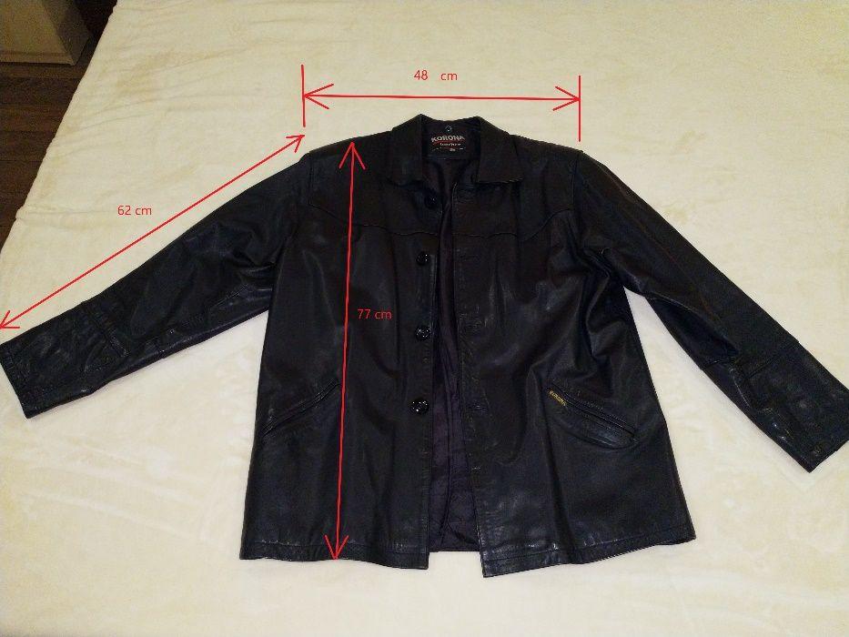 Мъжко черно кожено яке