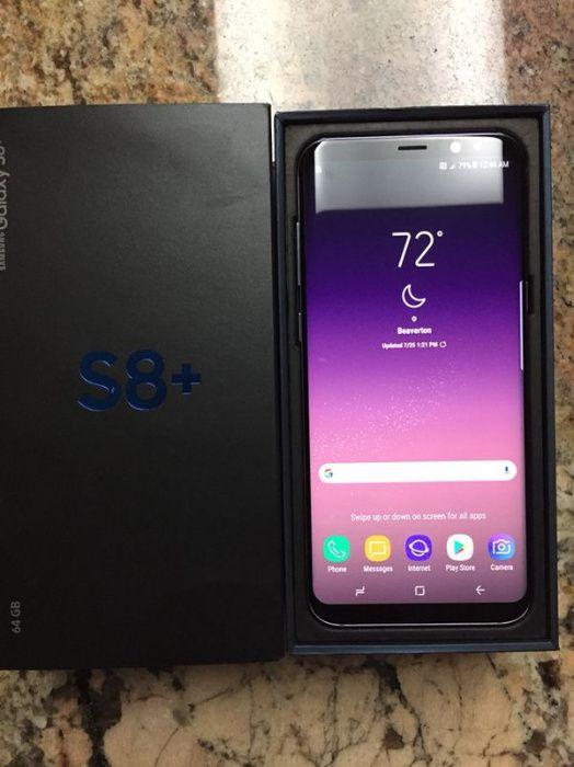 Galaxy S8 Plus + na caixa Novo. Entrego a mão