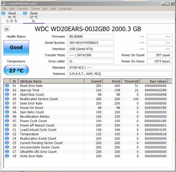 HDD internal Western Digital Green 2TB SATA WD20EARS perfecta stare