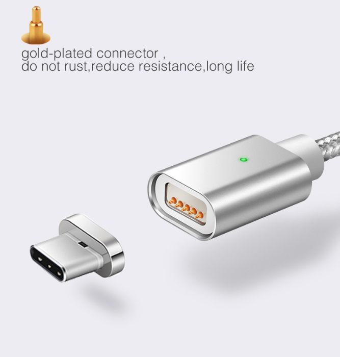 Cablu magnetic type C sau Micro USB - nou