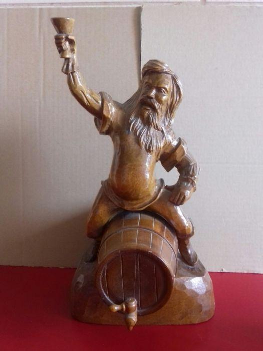 Statueta statuie lemn Bachus