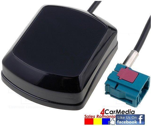 Antena GPS originala 4CarMedia cu amplificare cu mufa FAKRA si SMA-A