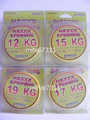 Fir textil pentru spinning MaxxHakuyo 150mt 0,08 -- 0,10mm