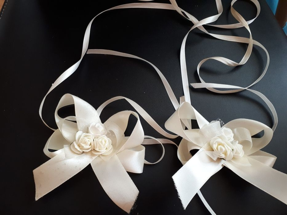 Сватбена украса за свещи 1бр