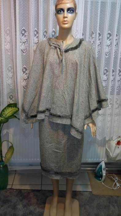 Costum lana 100% (fusta si capa) nr.44 (L)