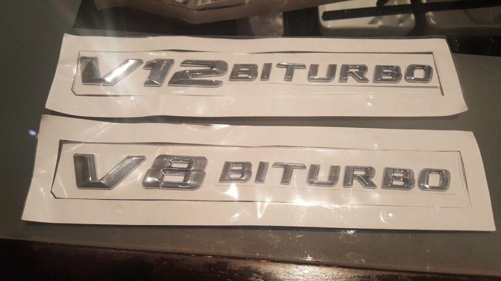 V8 V12 biturbo емблема за мерцедес ML,S,C,E,R class