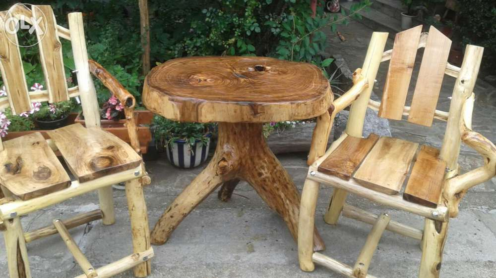 Masă( și scaune)rustice