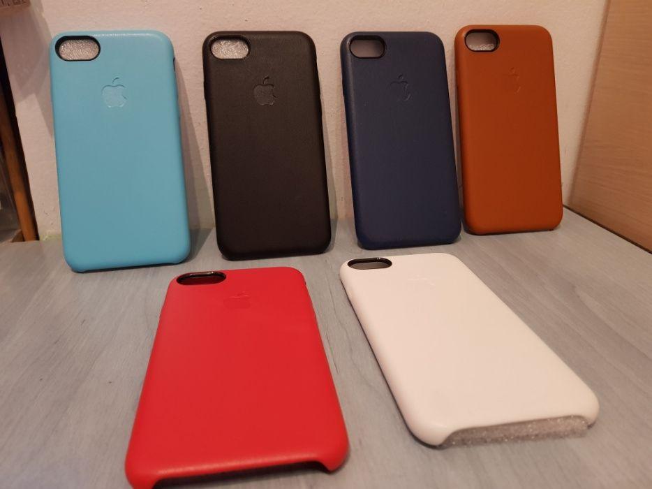 Husa Piele iPhone 7/8 Apple Leather Case 6 culori.