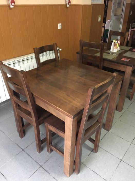 Masa si scaune lemn masiv