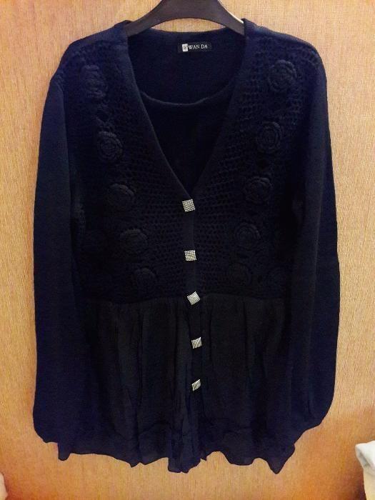 Bluza pulover negru de dama, nou, marimea L