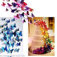 12 fluturi 3D dimensiuni si culori diferite,CADOU PT ORICE OCAZIE